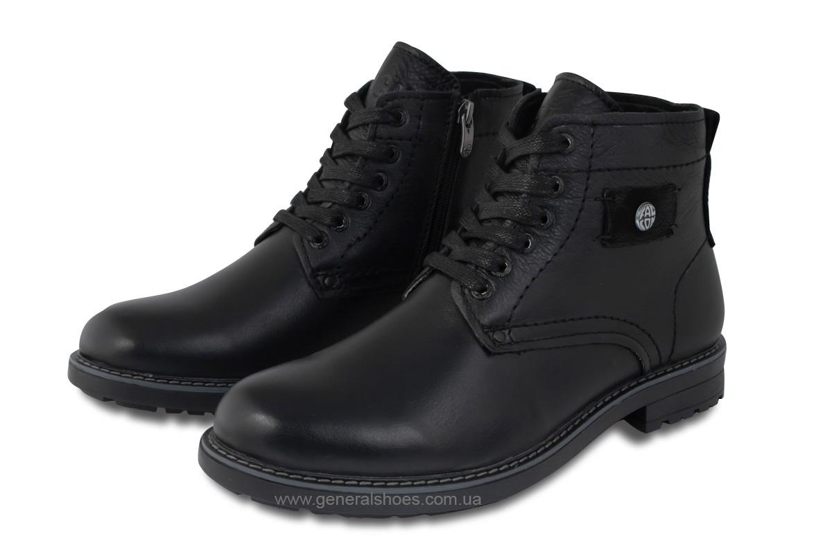 Мужские кожаные ботинки Falcon 7015 черные антискольжение фото 1