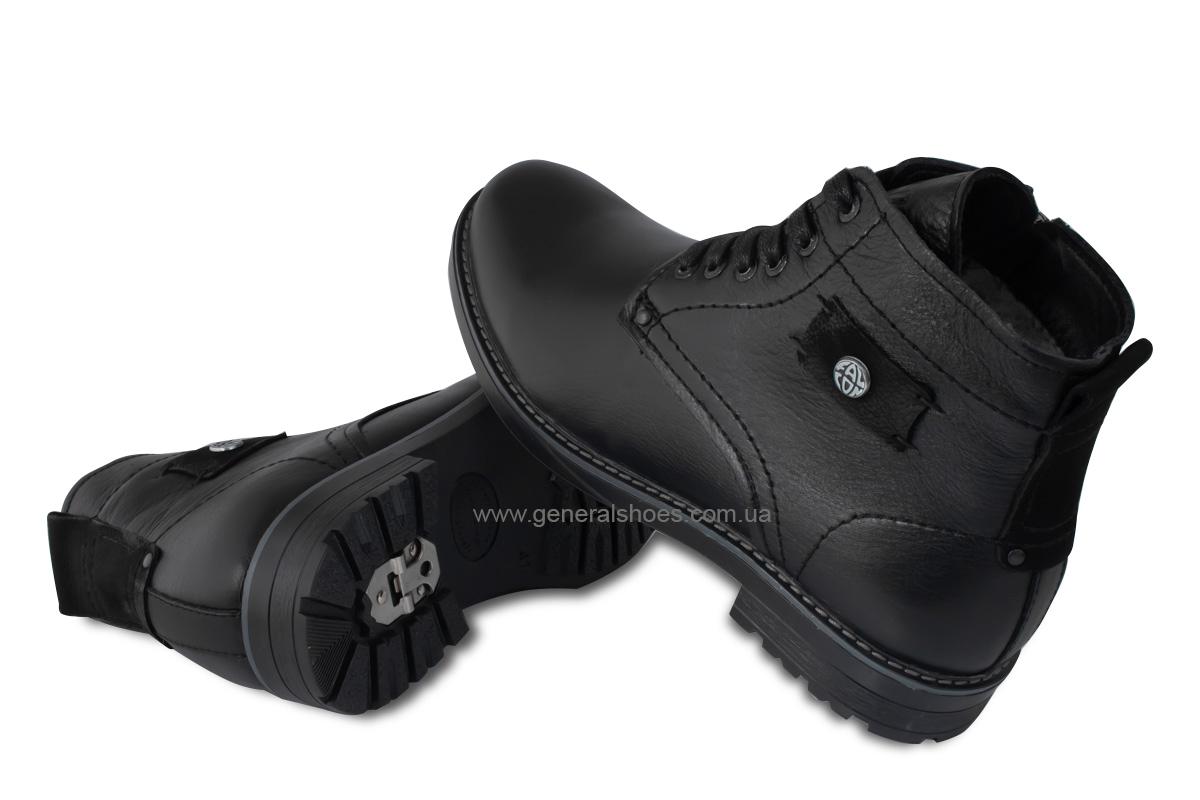 Мужские кожаные ботинки Falcon 7015 черные антискольжение фото 2