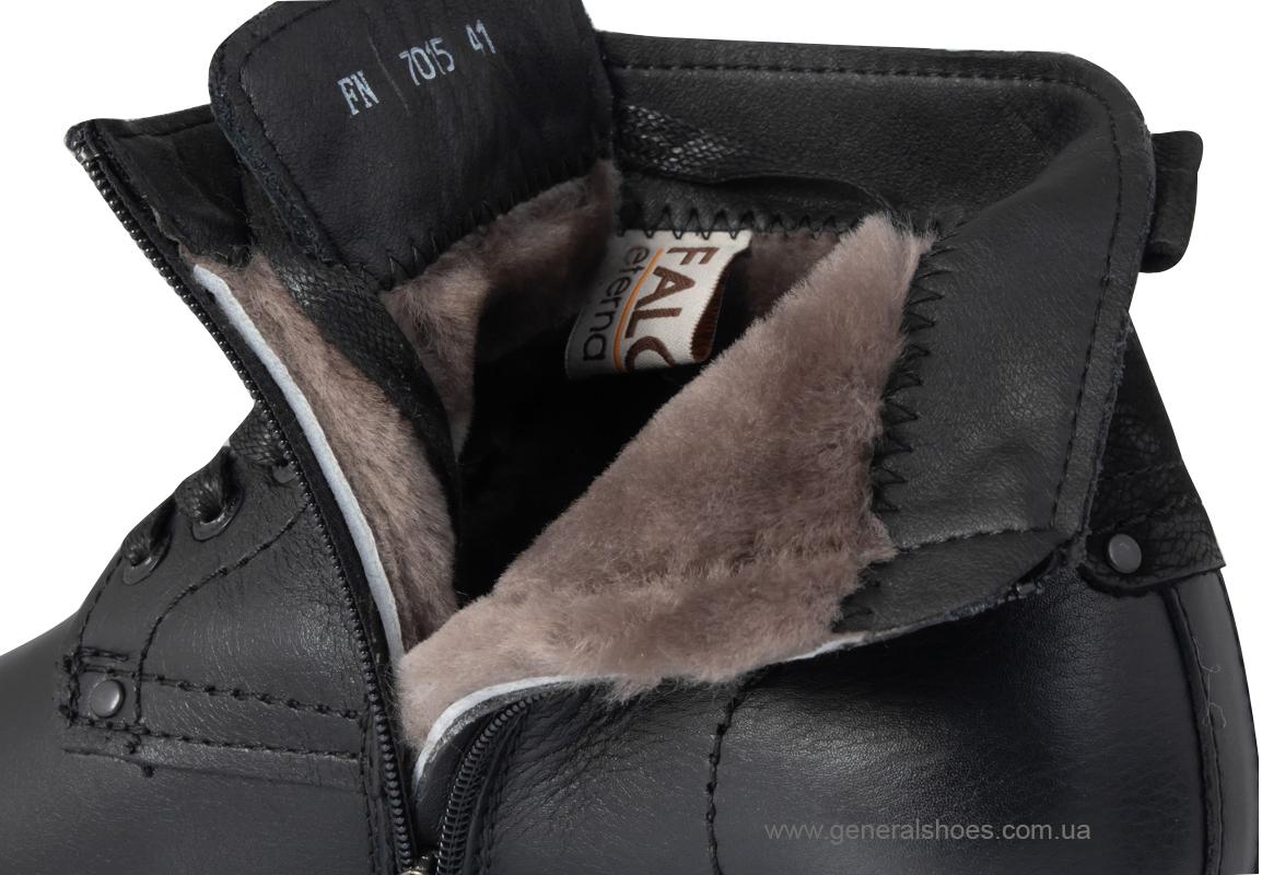Мужские кожаные ботинки Falcon 7015 черные антискольжение фото 3