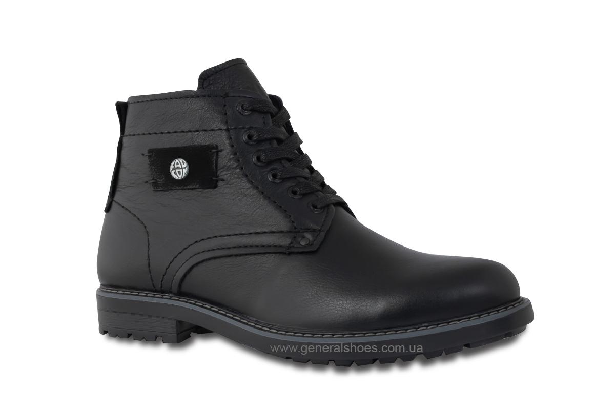 Мужские кожаные ботинки Falcon 7015 черные антискольжение фото 4