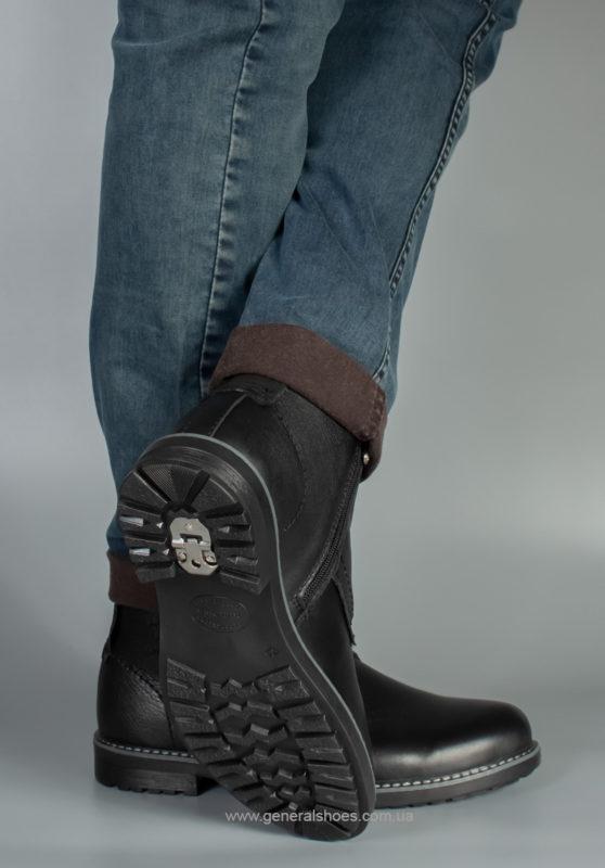 Мужские кожаные ботинки Falcon 7015 черные антискольжение