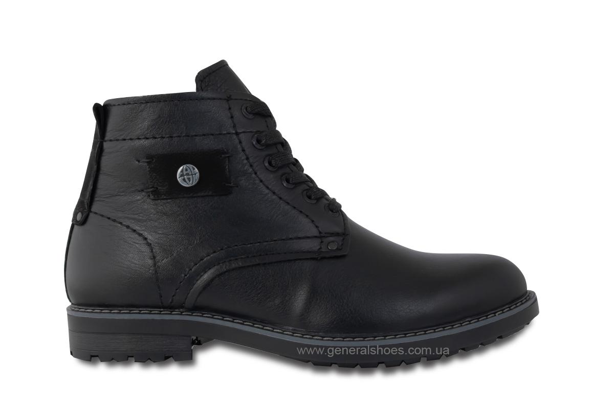 Мужские кожаные ботинки Falcon 7015 черные антискольжение фото 5