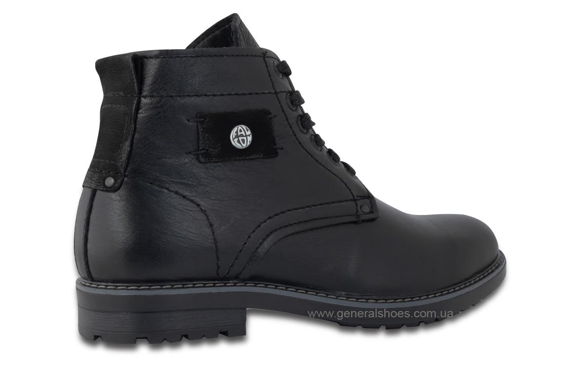 Мужские кожаные ботинки Falcon 7015 черные антискольжение фото 6