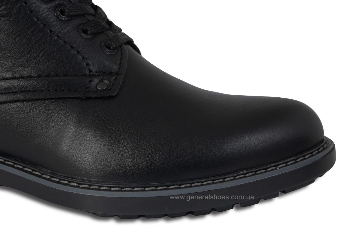 Мужские кожаные ботинки Falcon 7015 черные антискольжение фото 8