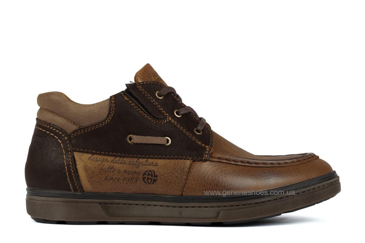 Мужские зимние кожаные ботинки Falcon 50817 br. фото 1