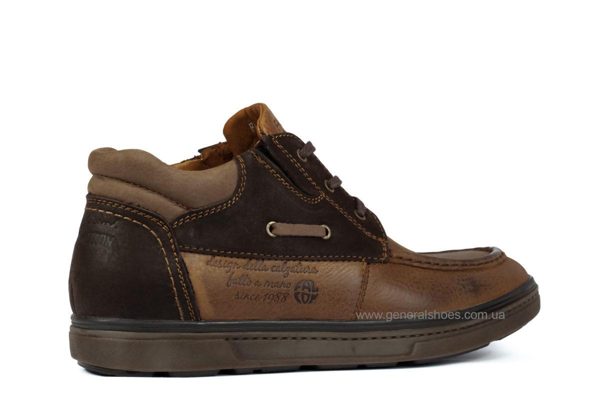 Мужские зимние кожаные ботинки Falcon 50817 br. фото 2