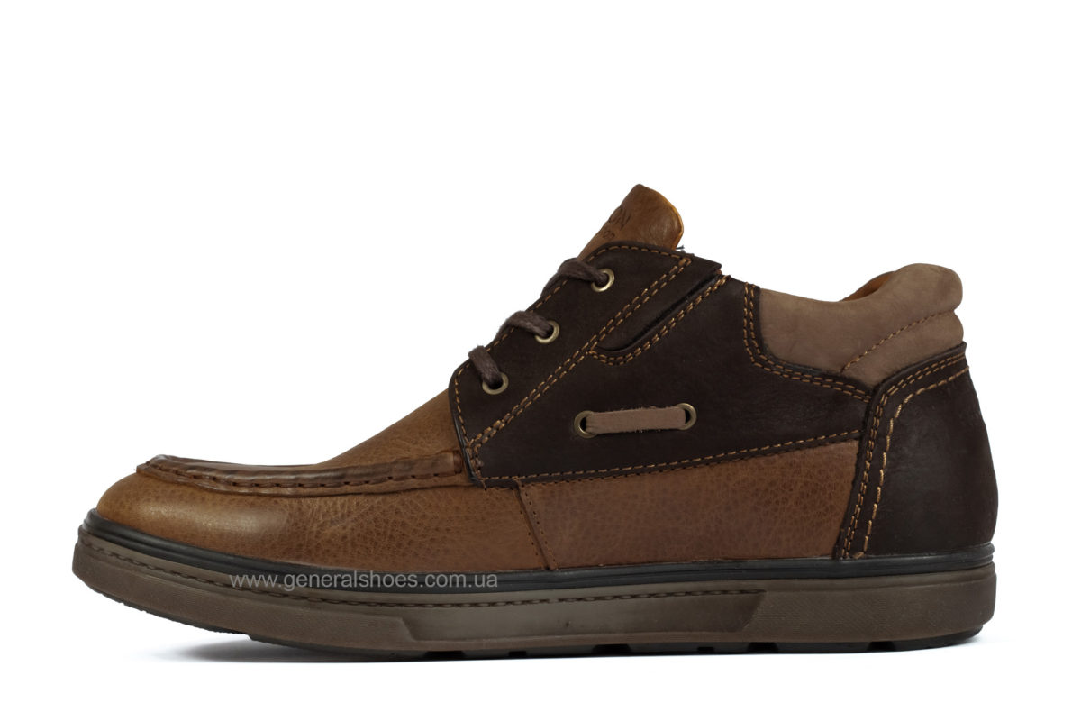 Мужские зимние кожаные ботинки Falcon 50817 br. фото 3