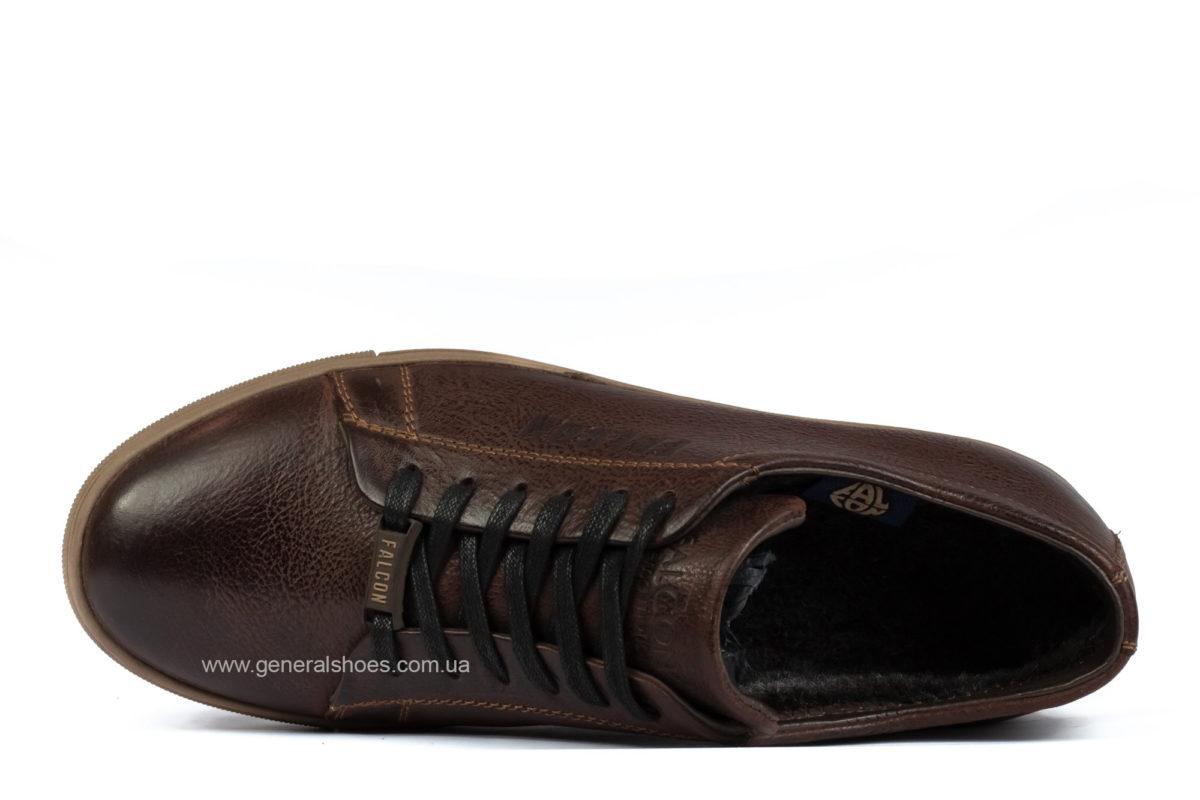 Мужские зимние кожаные полуботинки Falcon B 244 br. фото 5