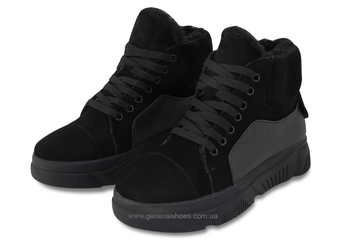 Зимние кожаные женские ботинки GL 525 черные фото 1