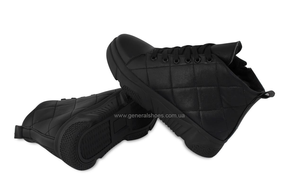 Зимние кожаные женские ботинки GL 527 черные фото 2