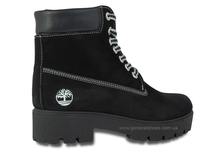 Зимние женские ботинки 07 нубук черные фото 5