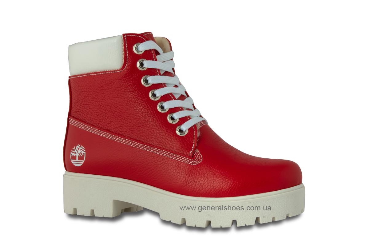Зимние женские ботинки красные GL 05 фото 3