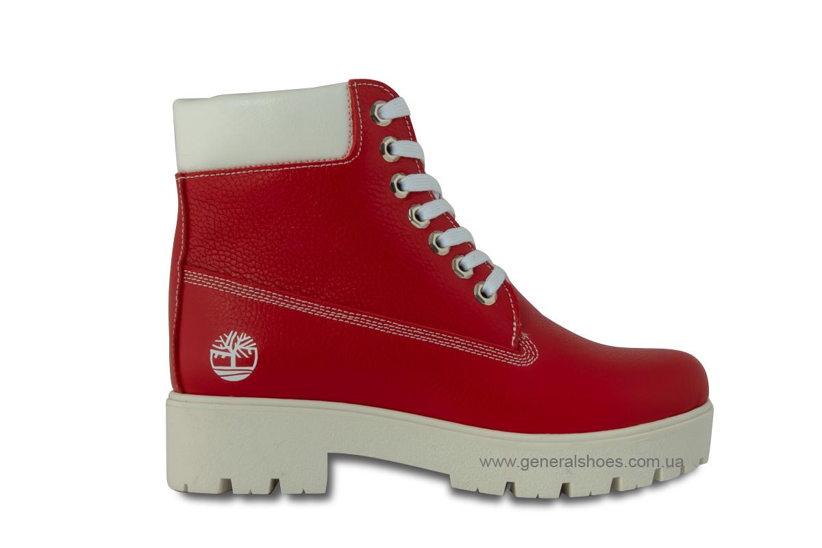 Зимние женские ботинки красные GL 05 фото 4