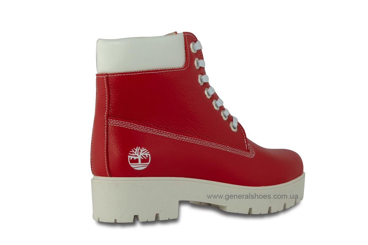 Зимние женские ботинки красные GL 05 фото 5