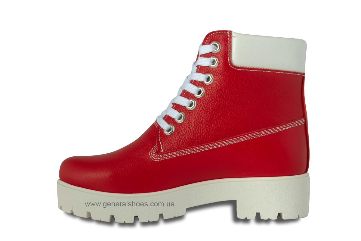 Зимние женские ботинки красные GL 05 фото 6