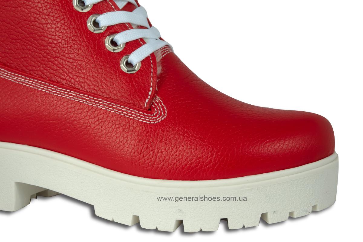 Зимние женские ботинки красные GL 05 фото 7