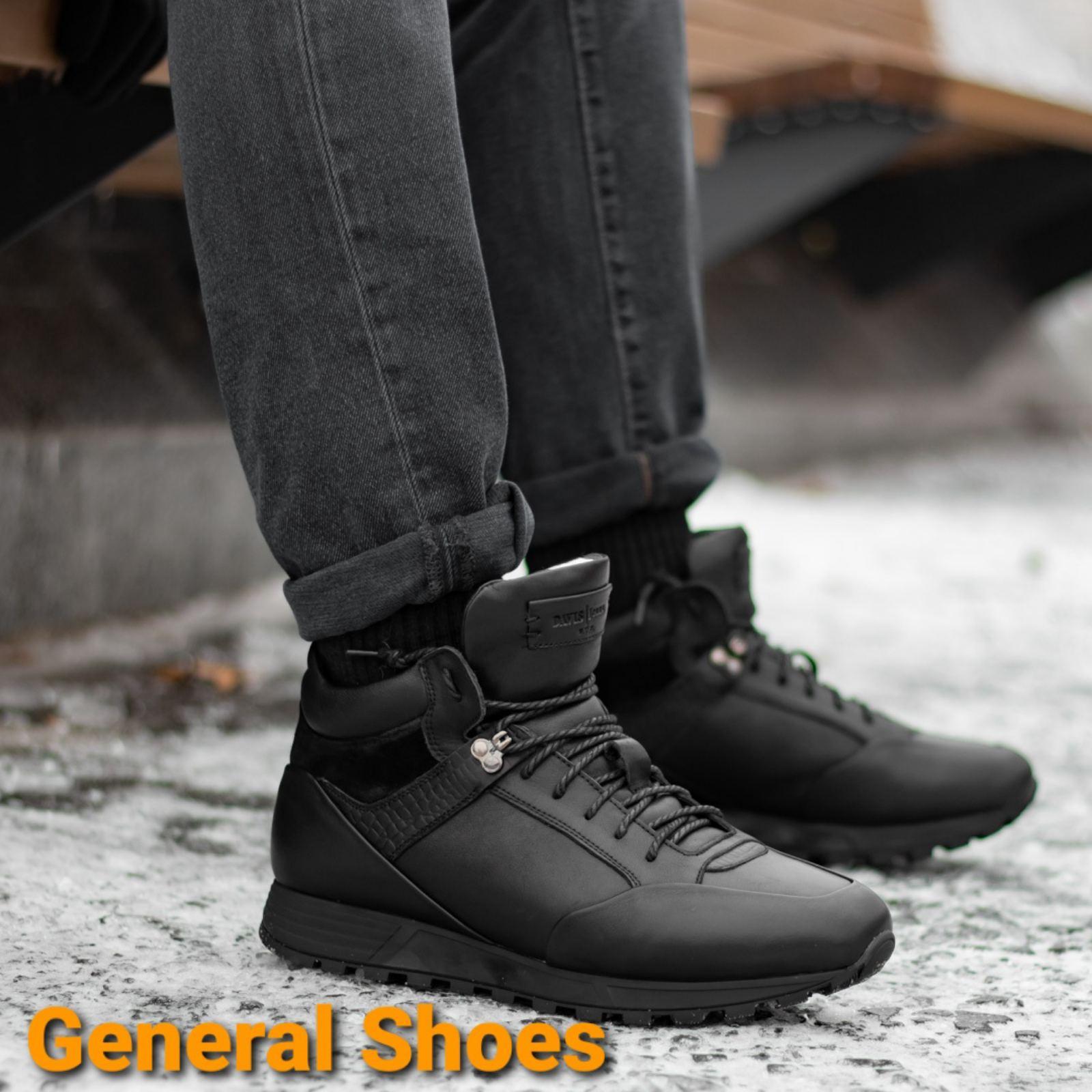 Мужские кожаные ботинки Davis 1881-5 натуральный мех