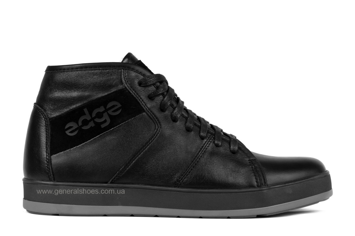 Мужские зимние кожаные ботинки Ed-Ge 149 черные фото 1