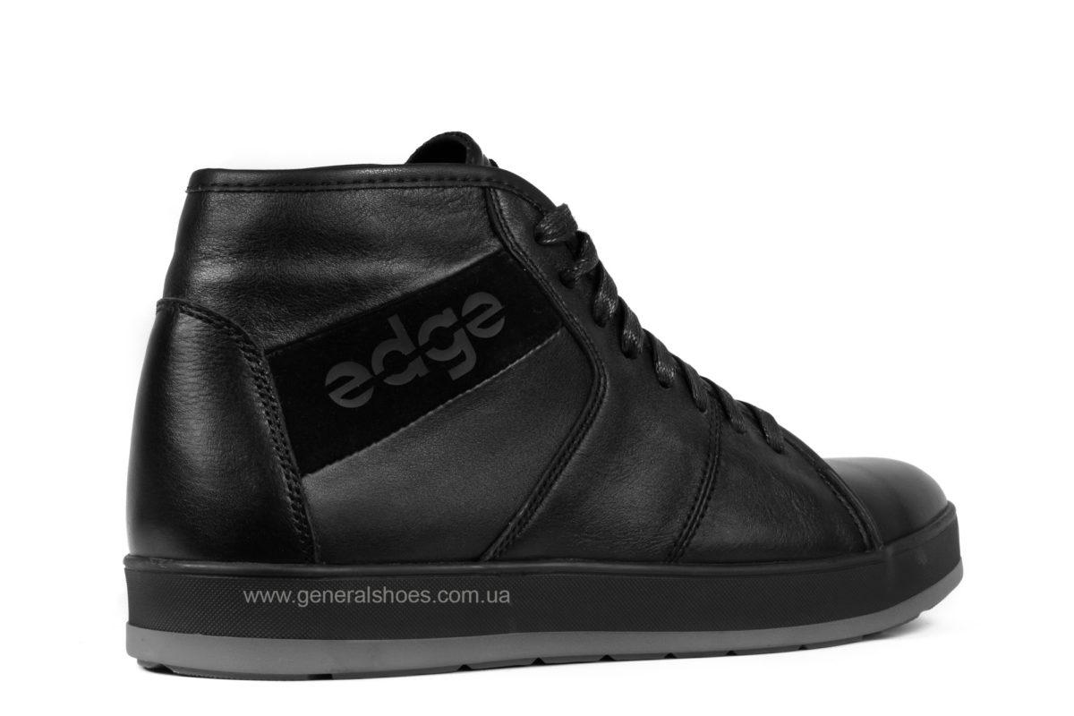 Мужские зимние кожаные ботинки Ed-Ge 149 черные фото 2