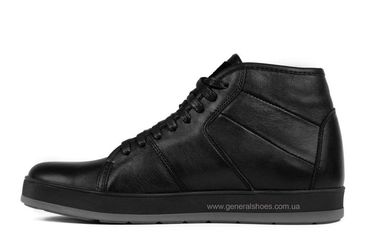 Мужские зимние кожаные ботинки Ed-Ge 149 черные фото 3