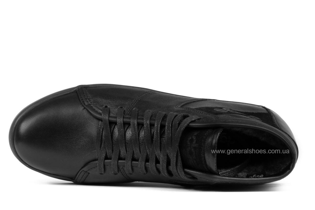 Мужские зимние кожаные ботинки Ed-Ge 149 черные фото 4