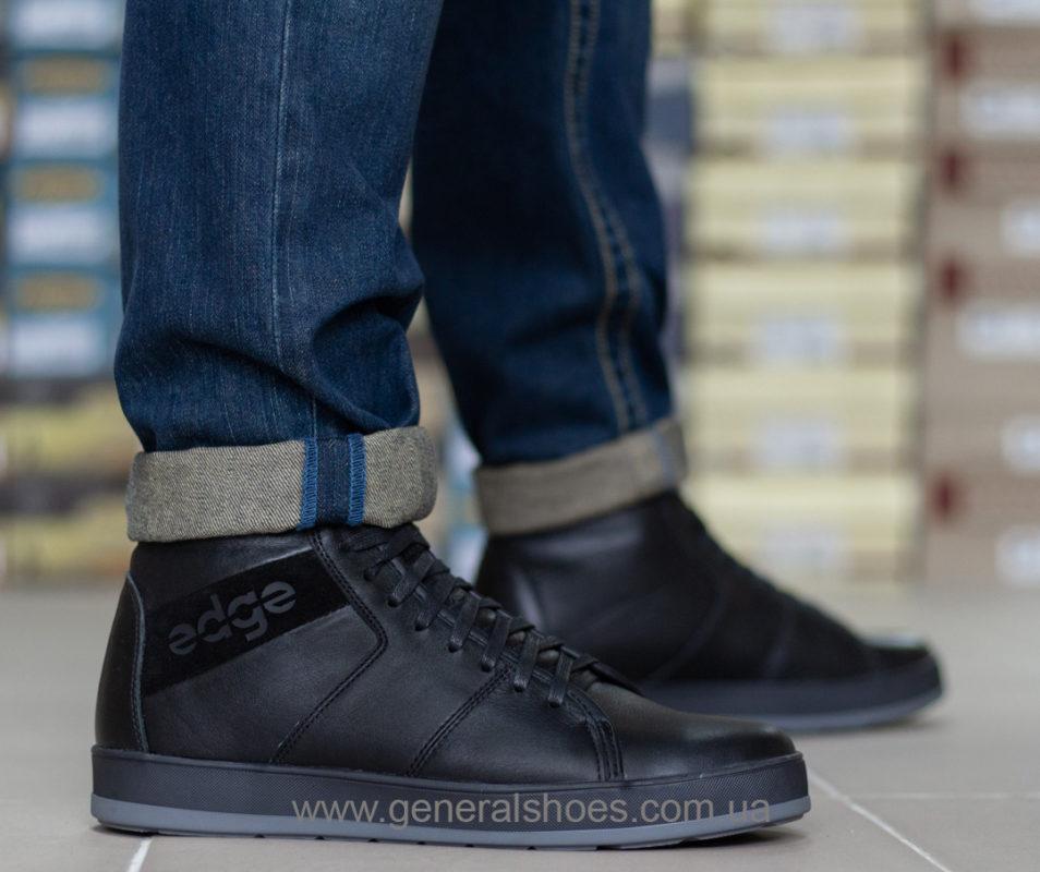 Мужские зимние кожаные ботинки Ed-Ge 149 черные