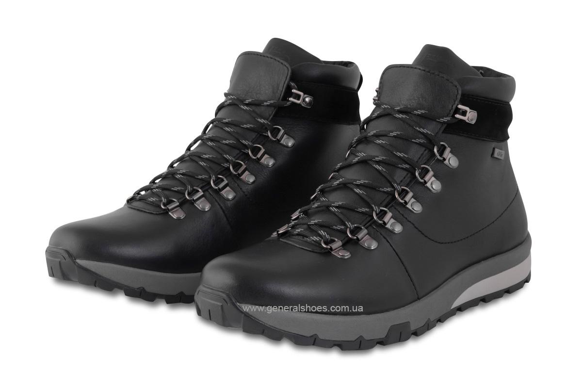 Мужские зимние кожаные ботинки Ed-Ge 247 черные фото 1