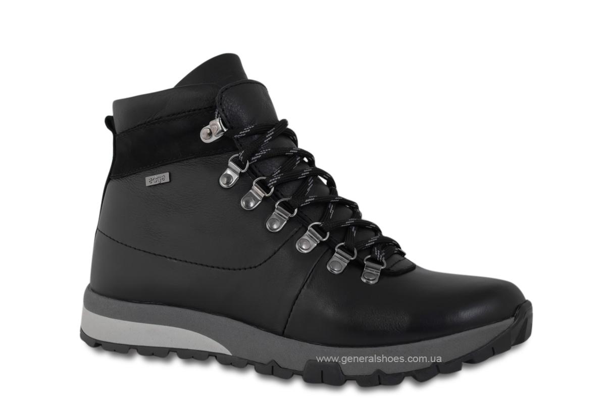 Мужские зимние кожаные ботинки Ed-Ge 247 черные фото 3