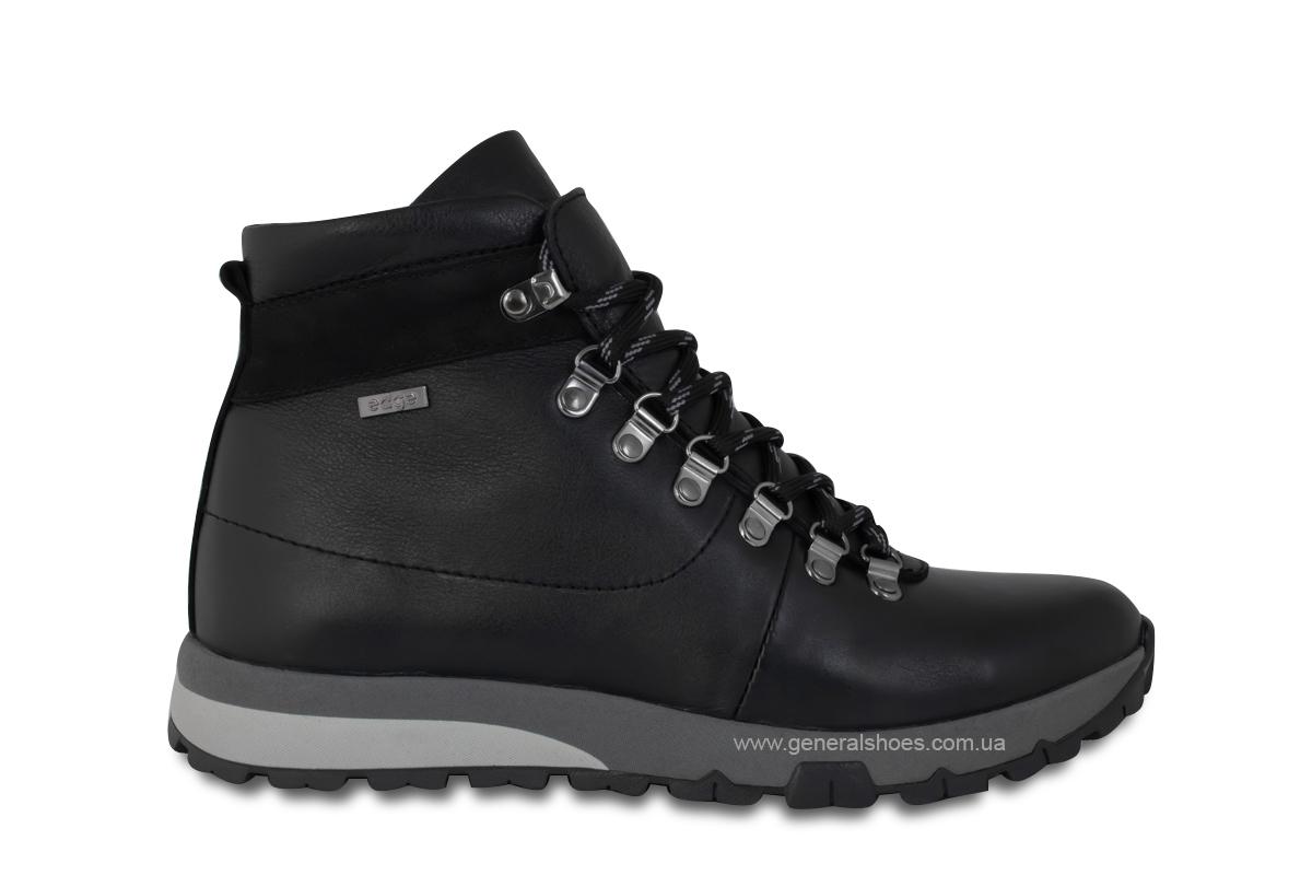 Мужские зимние кожаные ботинки Ed-Ge 247 черные фото 4