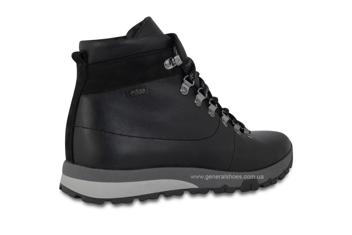 Мужские зимние кожаные ботинки Ed-Ge 247 черные фото 5
