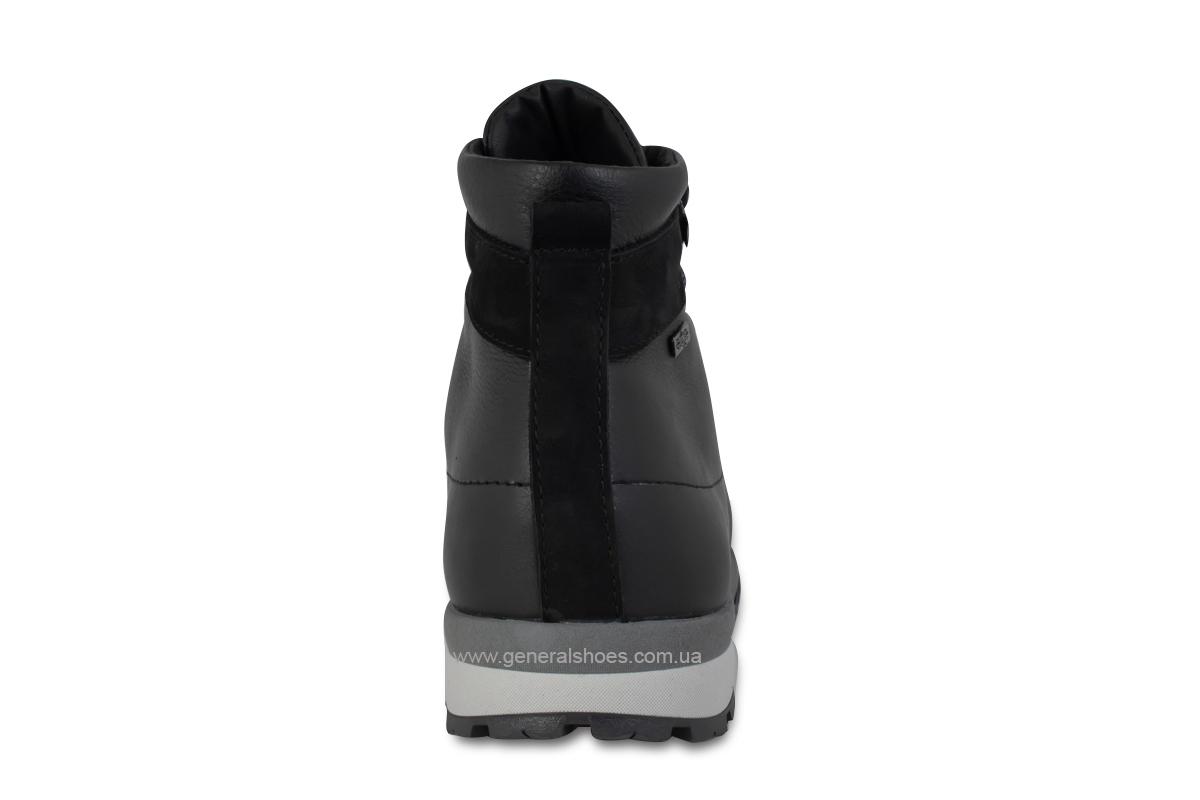 Мужские зимние кожаные ботинки Ed-Ge 247 черные фото 6