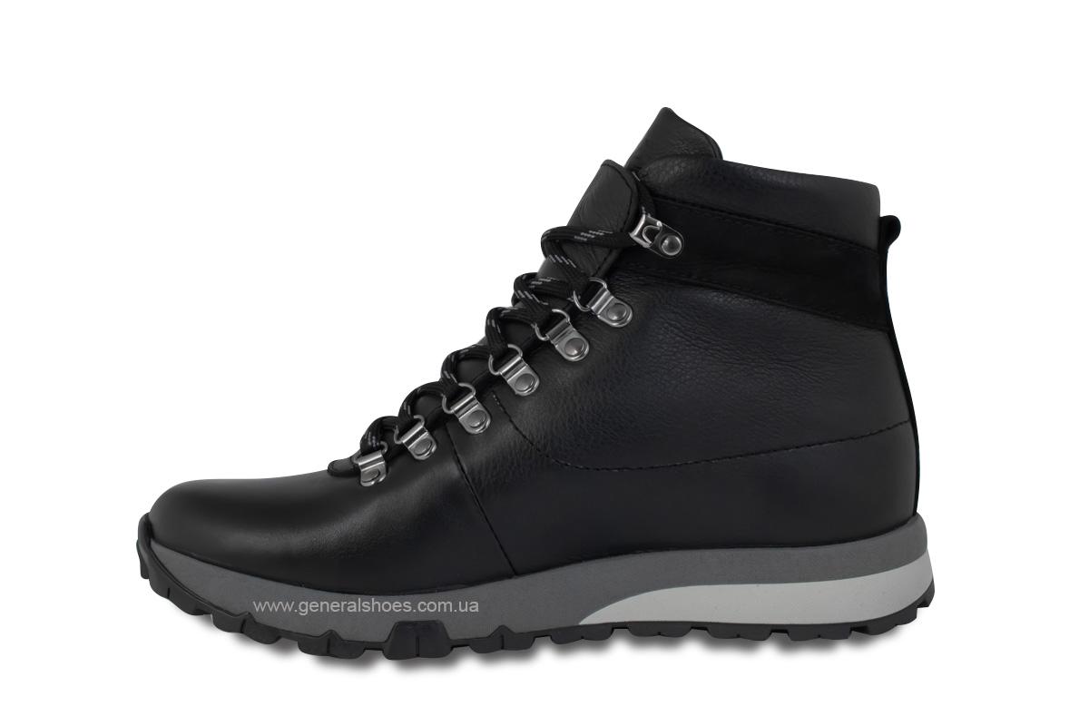 Мужские зимние кожаные ботинки Ed-Ge 247 черные фото 7