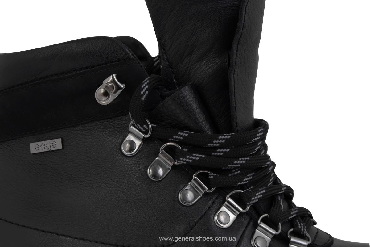Мужские зимние кожаные ботинки Ed-Ge 247 черные фото 9