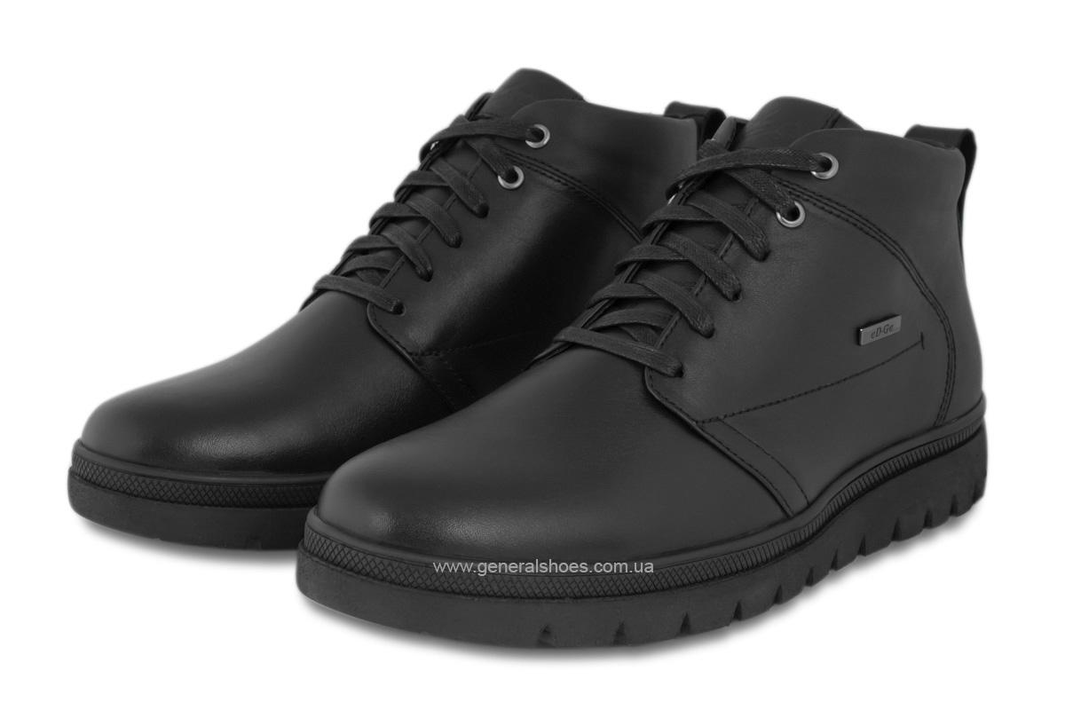 Мужские зимние кожаные ботинки Ed-Ge 249 черные фото 1