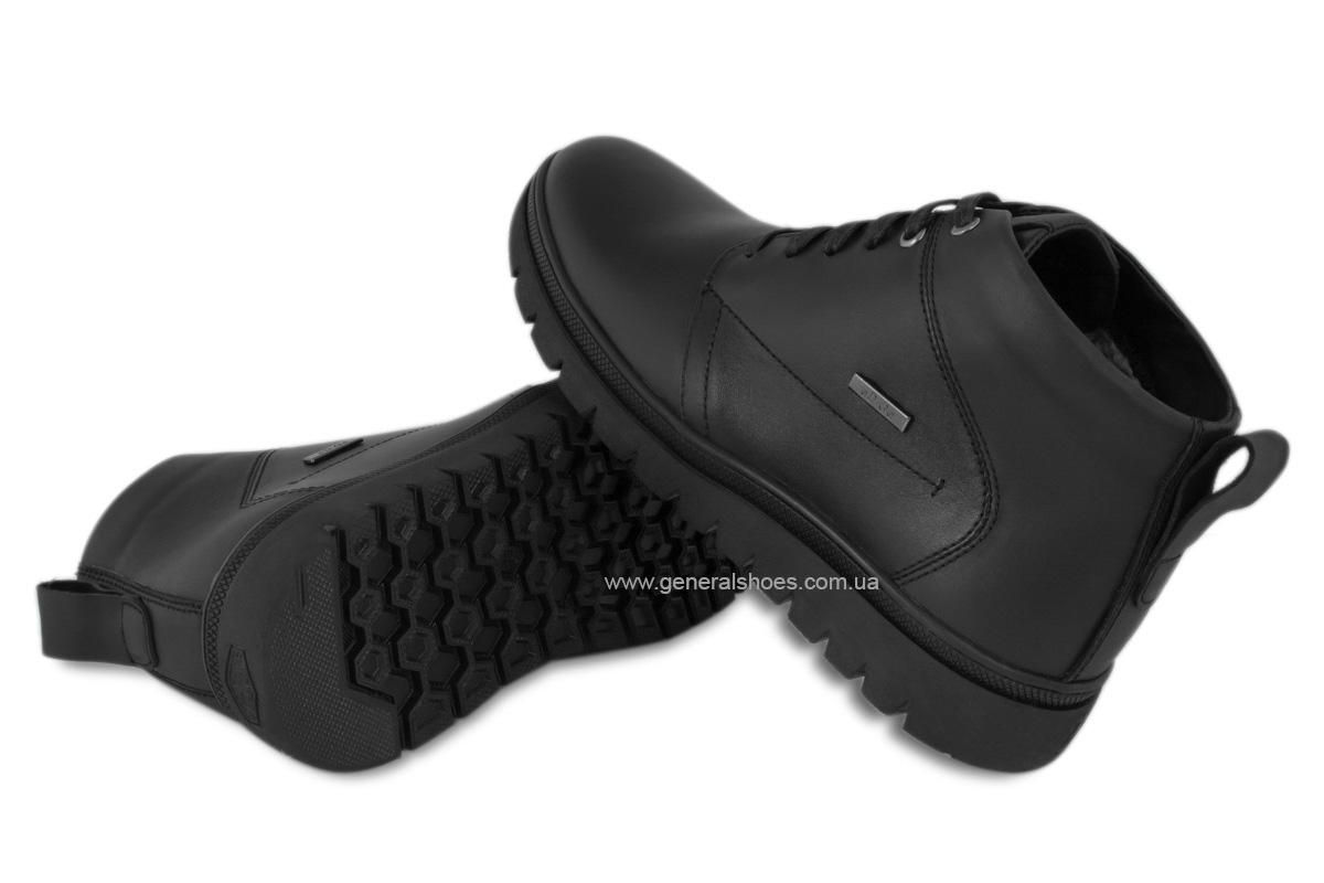 Мужские зимние кожаные ботинки Ed-Ge 249 черные фото 2