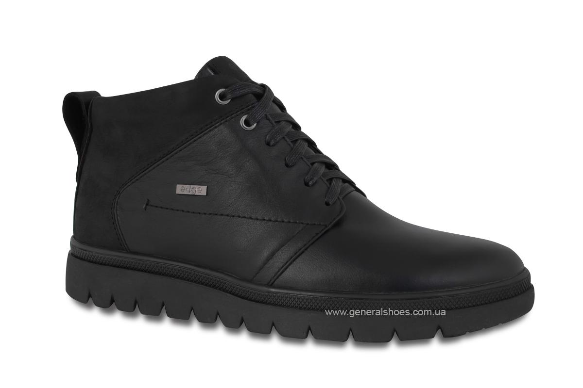 Мужские зимние кожаные ботинки Ed-Ge 249 черные фото 3