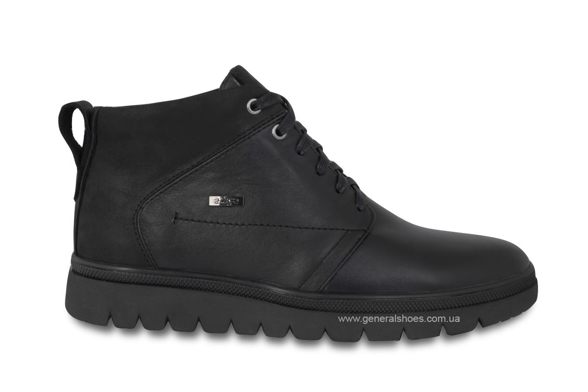 Мужские зимние кожаные ботинки Ed-Ge 249 черные фото 4