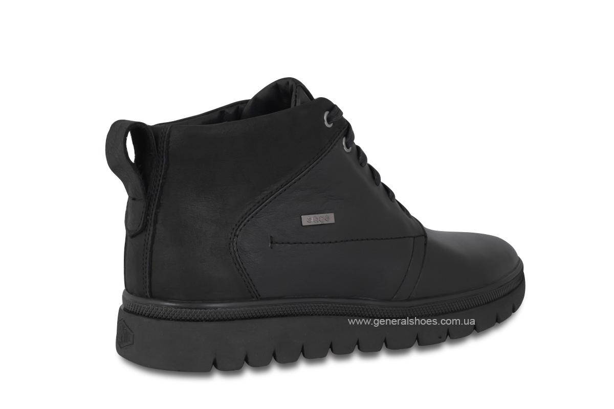 Мужские зимние кожаные ботинки Ed-Ge 249 черные фото 5