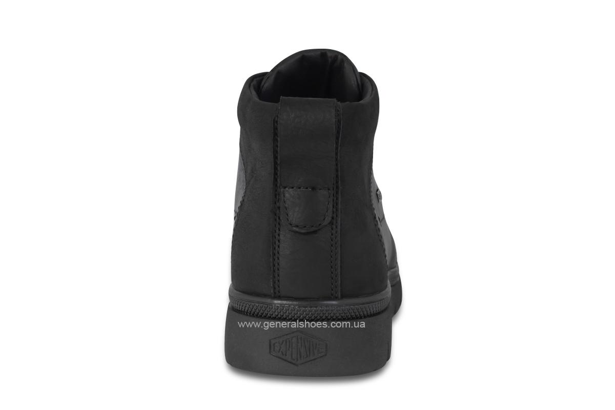 Мужские зимние кожаные ботинки Ed-Ge 249 черные фото 6