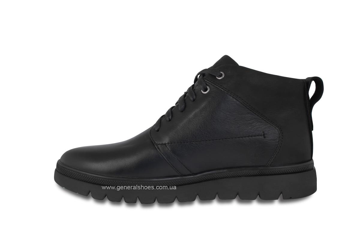 Мужские зимние кожаные ботинки Ed-Ge 249 черные фото 7