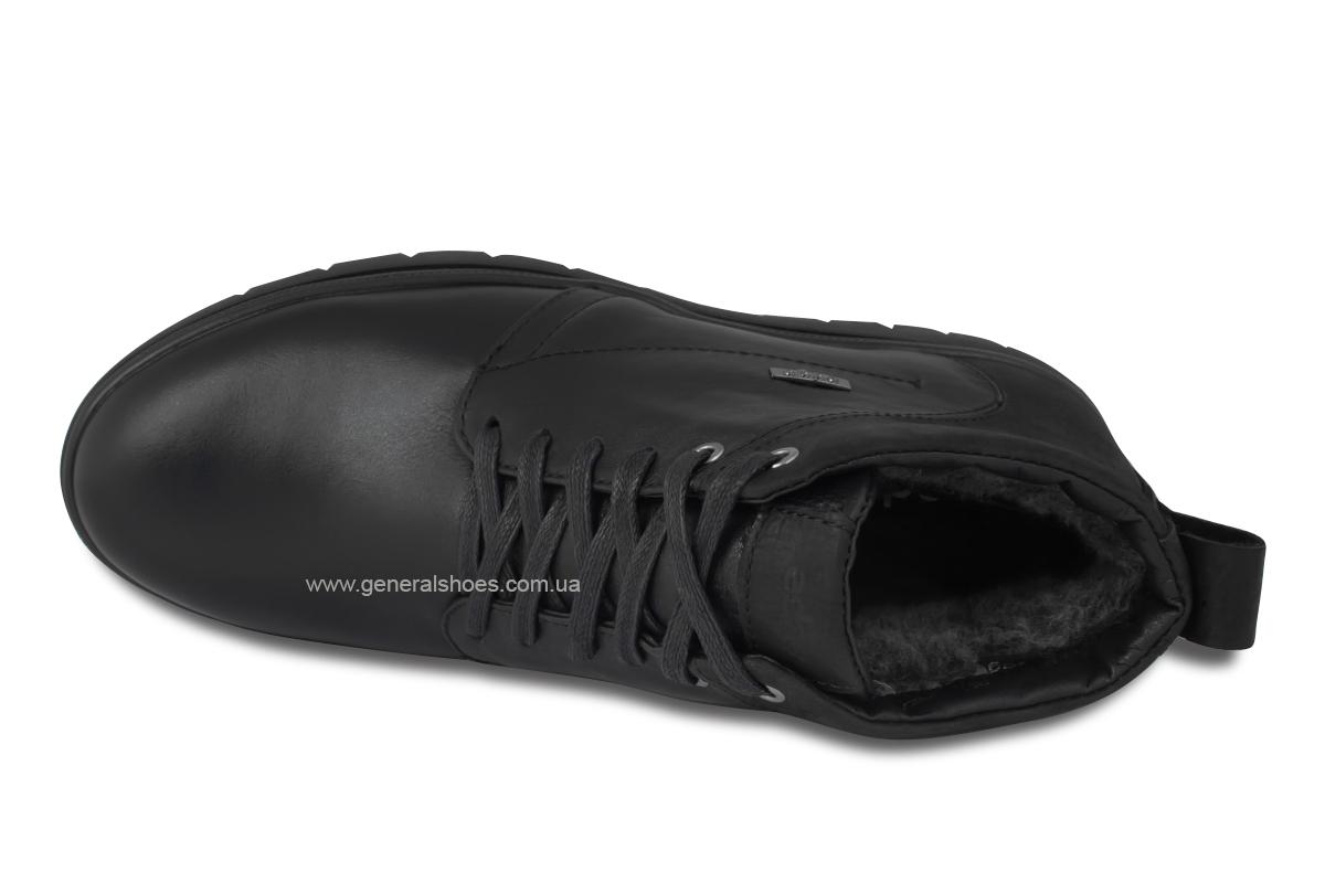 Мужские зимние кожаные ботинки Ed-Ge 249 черные фото 8
