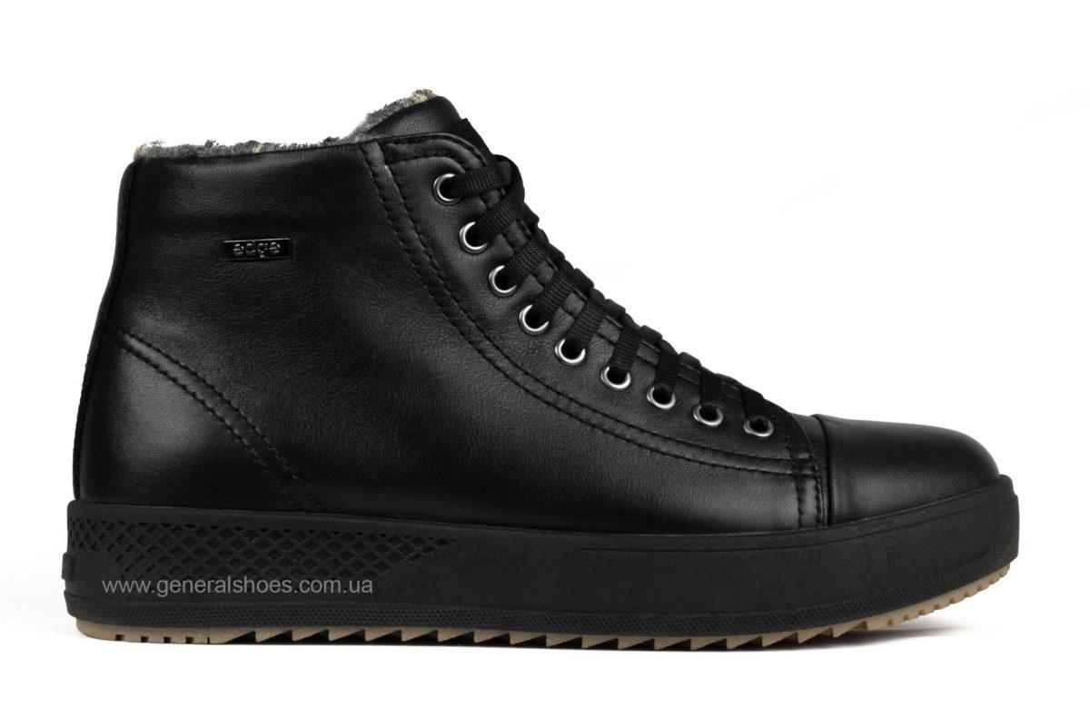 Мужские зимние кожаные ботинки Ed-Ge R 19 черные фото 1