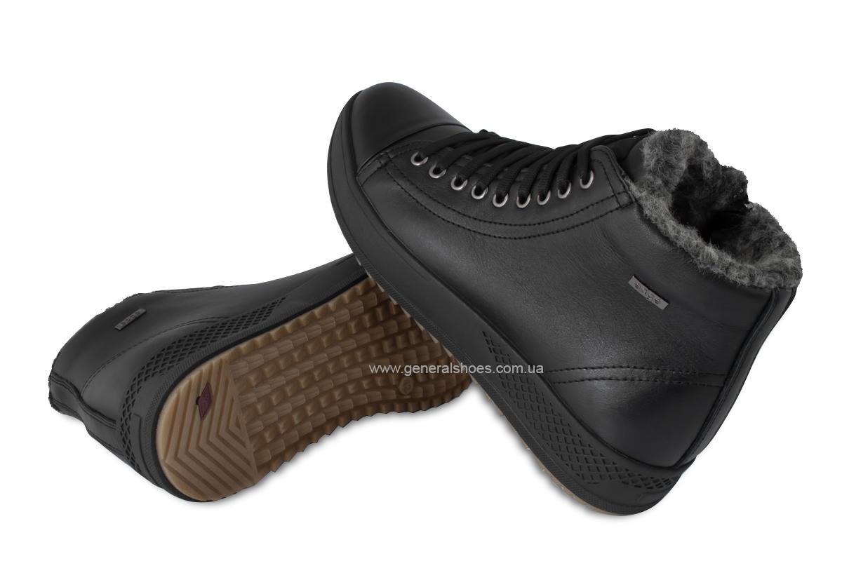 Мужские зимние кожаные ботинки Ed-Ge R 19 черные фото 2