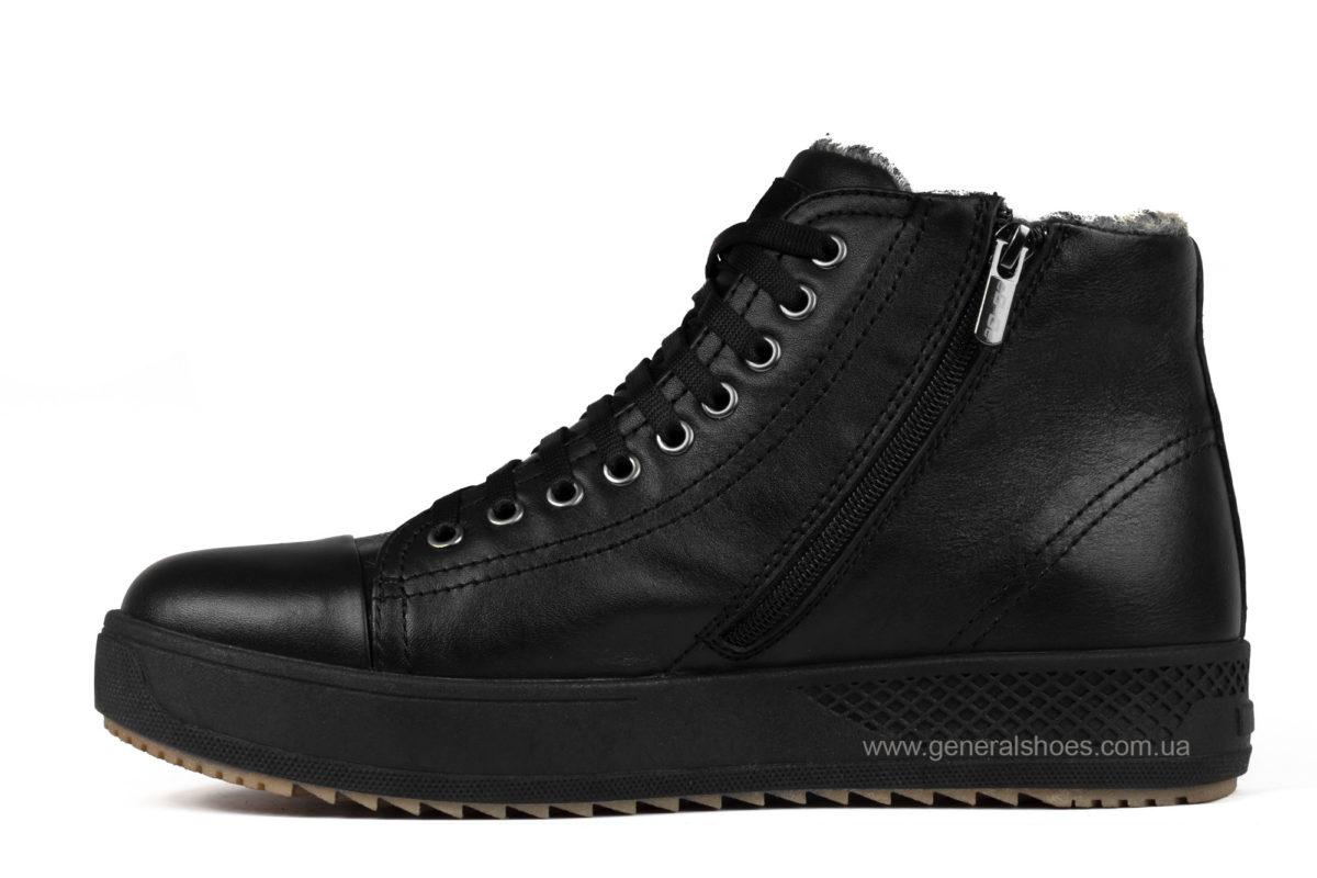 Мужские зимние кожаные ботинки Ed-Ge R 19 черные фото 3