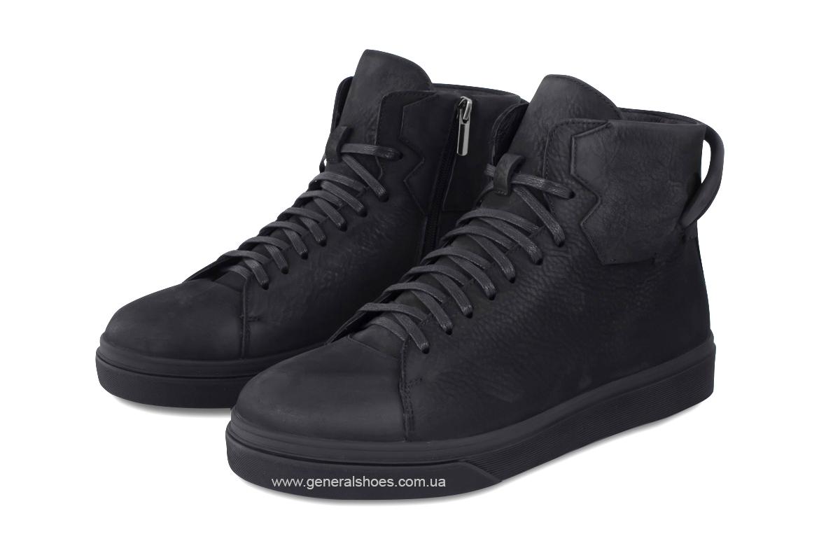 Мужские зимние кожаные ботинки Sensor 795 натуральный мех фото 1