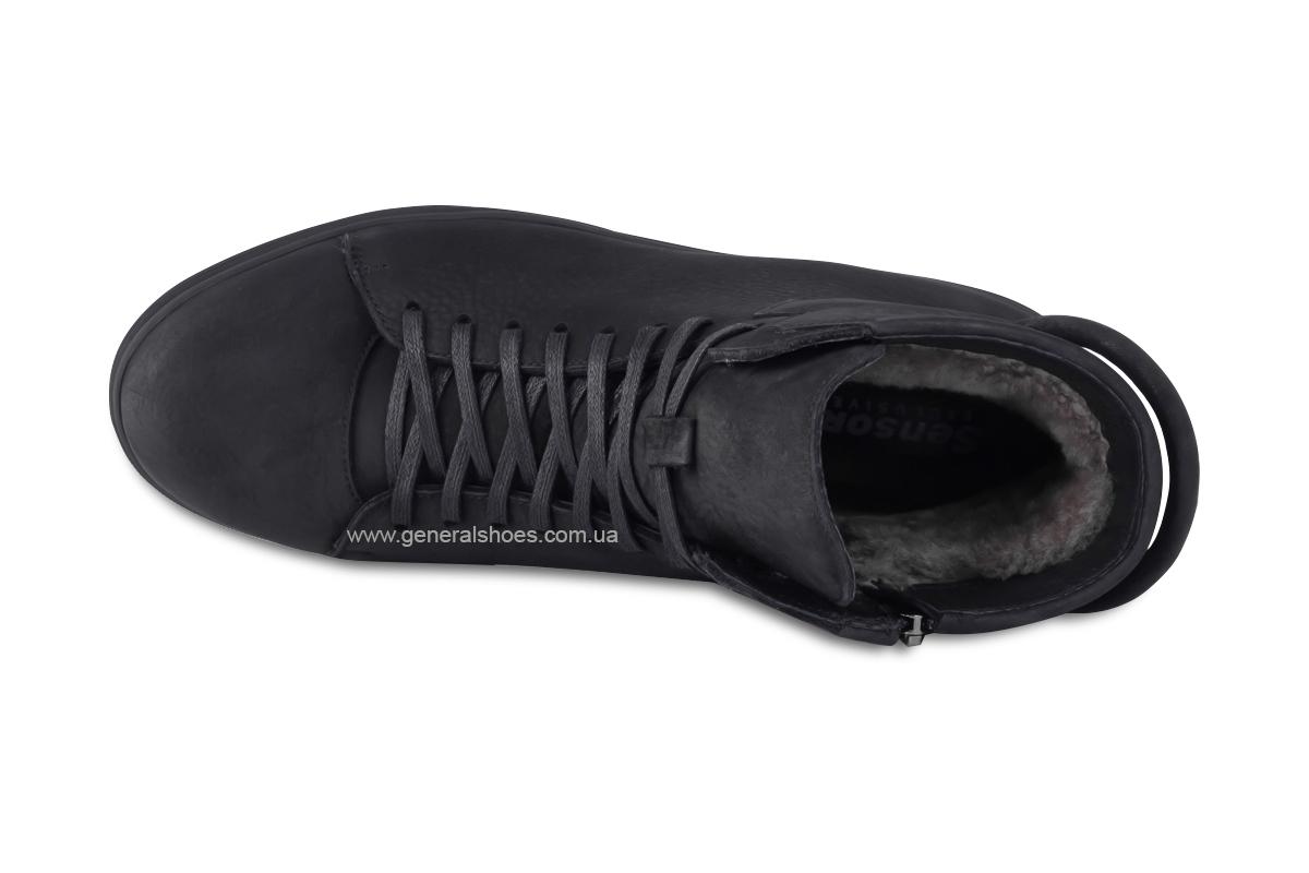 Мужские зимние кожаные ботинки Sensor 795 натуральный мех фото 10
