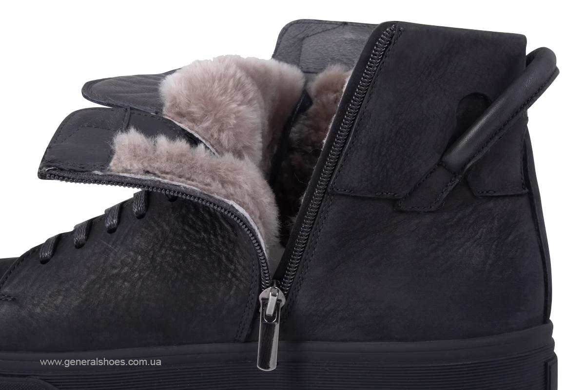 Мужские зимние кожаные ботинки Sensor 795 натуральный мех фото 11