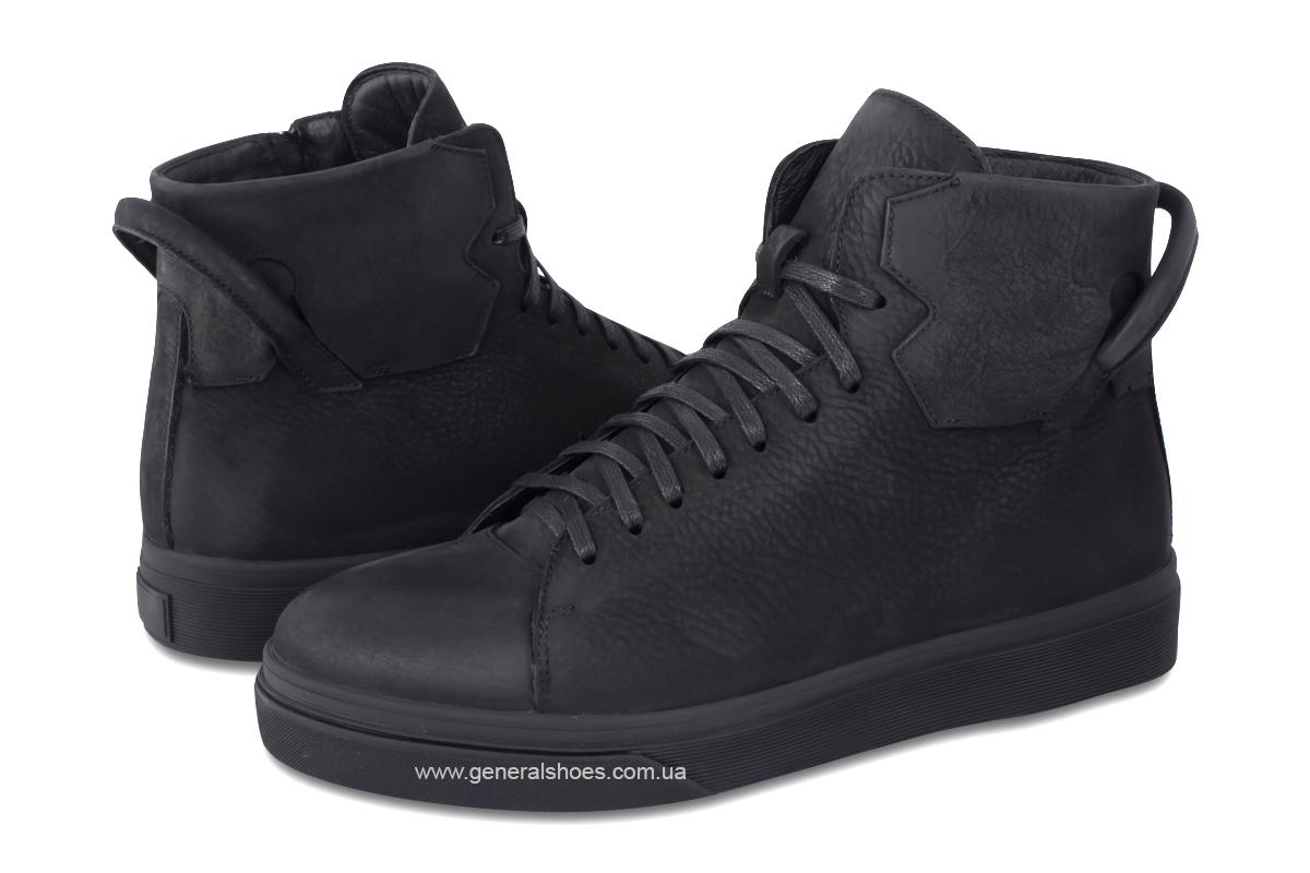 Мужские зимние кожаные ботинки Sensor 795 натуральный мех фото 2