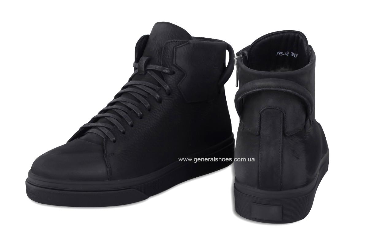 Мужские зимние кожаные ботинки Sensor 795 натуральный мех фото 4