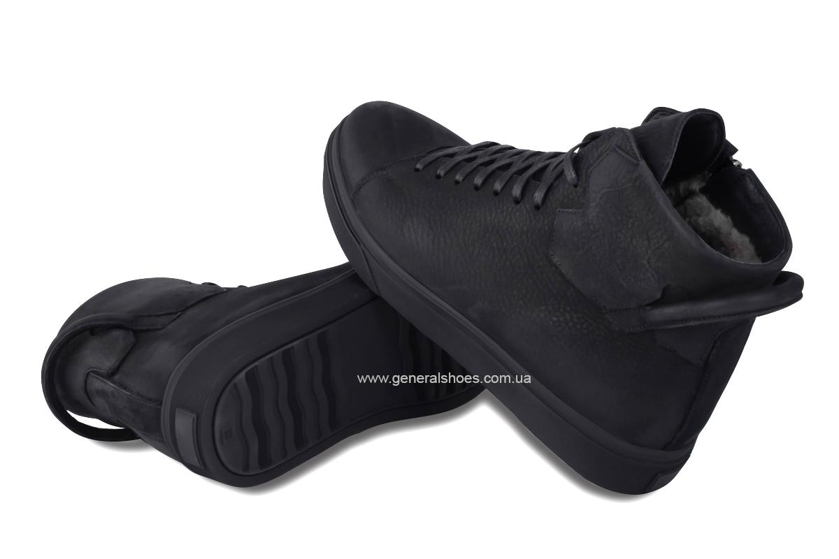 Мужские зимние кожаные ботинки Sensor 795 натуральный мех фото 5